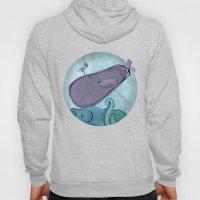 Eggplant Whale Hoody