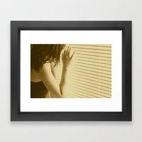 and I waited Framed Art Print