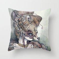 Vulpes Masquerade, now as a print! Throw Pillow
