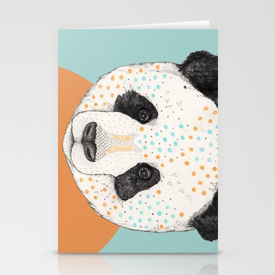 Polkadot Panda Stationery Card