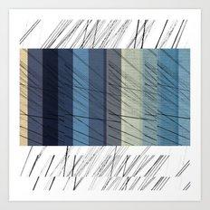 Blues Arrangement Art Print