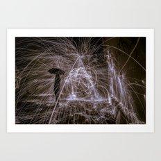 raining fire Art Print
