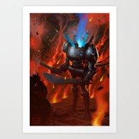 Robot II Art Print