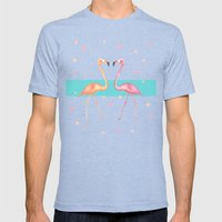 FLaMINGoS Mens Fitted Tee Tri-Blue SMALL