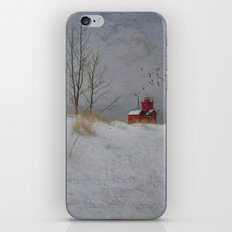 Winter Lighthouse iPhone & iPod Skin