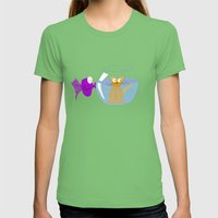 Rock 'n' Bowl Womens Fitted Tee Grass SMALL