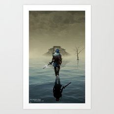 The hardest battle lies within (Blue Tunic / Shadow Variant) Art Print