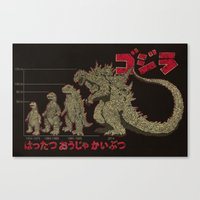 Evolution of The King of Monsters Canvas Print