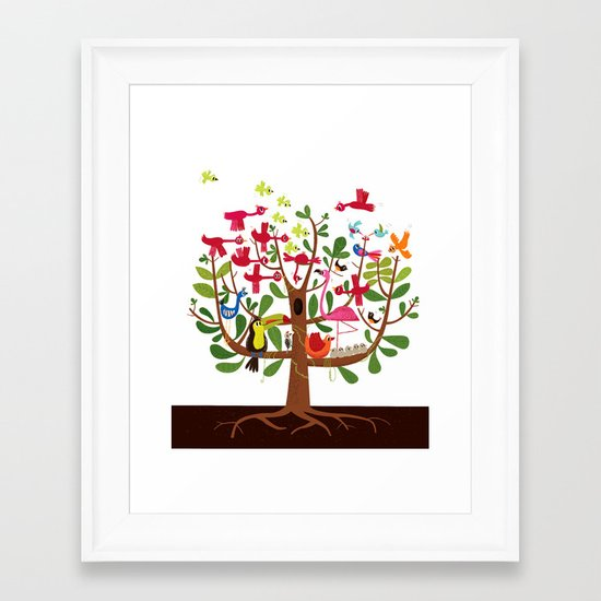 summer tree Framed Art Print