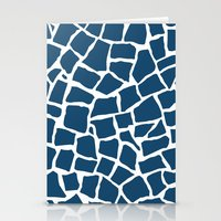 Mosaic Zoom Navy Stationery Cards