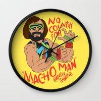 NO COUNTRY FOR MACHO MAN Wall Clock
