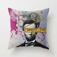 Public Figures -  Lincoln Throw Pillow