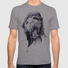 Wild Rage Mens Fitted Tee Athletic Grey SMALL