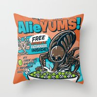 AlieYUMS! (orange variant) Throw Pillow