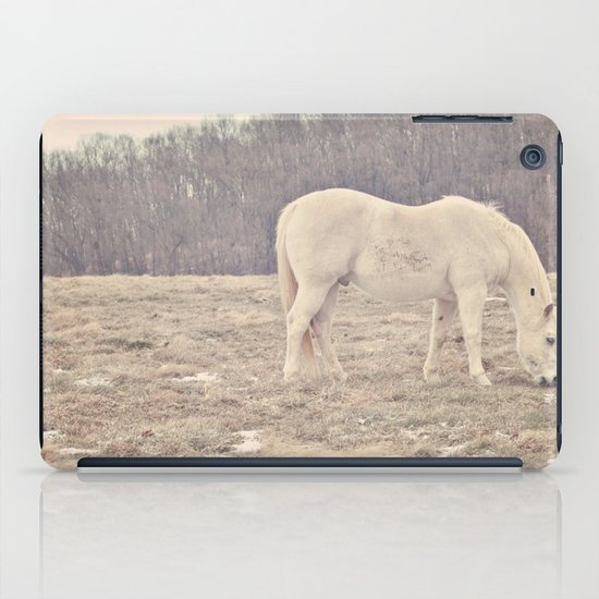 Pretty White Pony  iPad Case