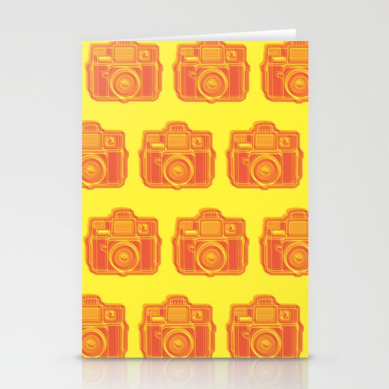 I Still Shoot Film Holga Logo - Yellow & Red Stationery Card