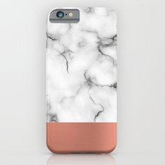 Marble & copper iPhone 6s Slim Case