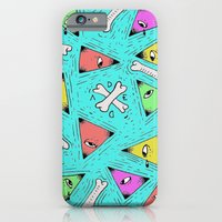 triangle iPhone & iPod Cases featuring Triangle by Dead Toy Matte