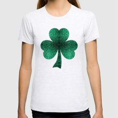Emerald Green Shamrock C… Womens Fitted Tee Ash Grey SMALL