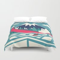 Yeti And Bunny Going On … Duvet Cover