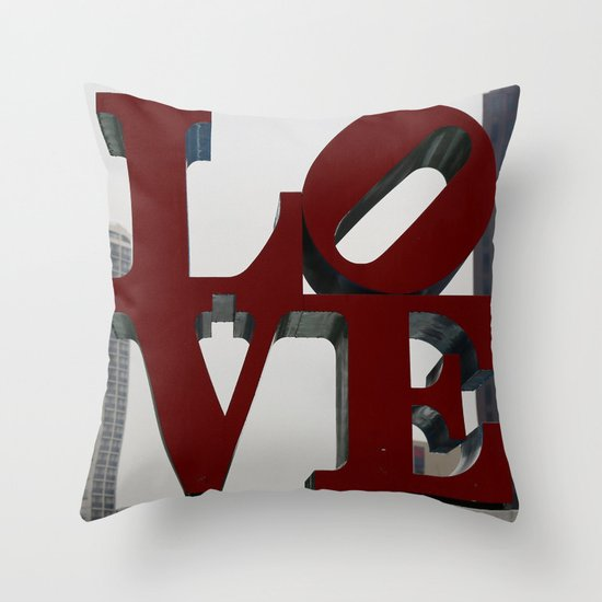 Love Philadelphia Sculpture Throw Pillow / Indoor Cover - various sizes