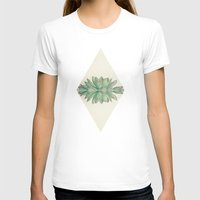 Echeveria II Womens Fitted Tee White SMALL