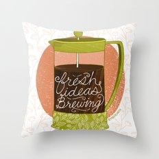 French Pressed Ideas  Throw Pillow