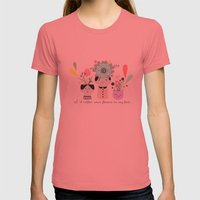 I´d rather wear flowers in my hair Womens Fitted Tee Pomegranate SMALL
