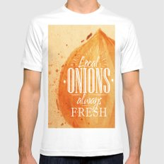 Onion Mens Fitted Tee SMALL White