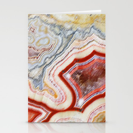 Marble Red Stationery Card
