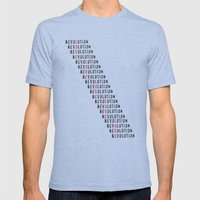 Revolution Mens Fitted Tee Tri-Blue SMALL