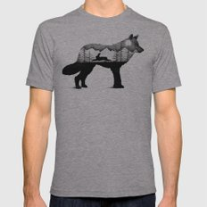 THE WOLF AND THE RABBIT Mens Fitted Tee Athletic Grey SMALL