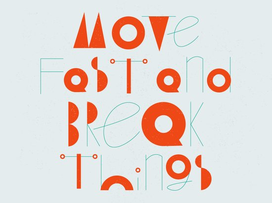 Move Fast Art Print