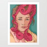 Tentacle Illustration Art Print