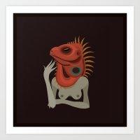 Wildlife - Iguana Art Print