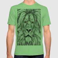 Black Lion Mens Fitted Tee Grass SMALL