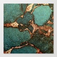 EMERALD AND GOLD  Canvas Print