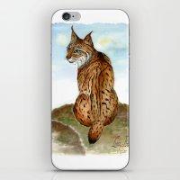 Iberian Lynx Watercolor iPhone & iPod Skin