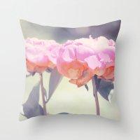 Pink Peony 14 Throw Pillow