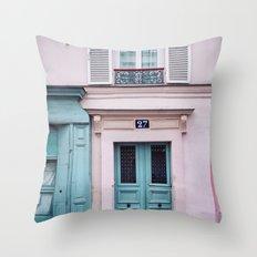 Paris Facades. Throw Pillow