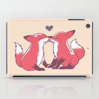 Fox Kisses iPad Case