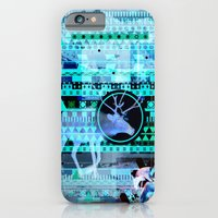 iPhone & iPod Case featuring Christmas Reindeer Collage by Grant Pearce