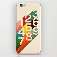 iPhone & iPod Skin featuring Retro Numbers by Budi Kwan