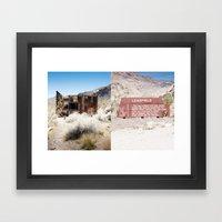 Leadfield, Death Valley.  Framed Art Print