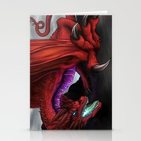 Red Wryven Stationery Cards
