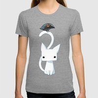 Cat and Raven Womens Fitted Tee Tri-Grey SMALL