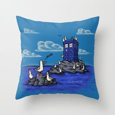 The Seagulls Have The Ph… Throw Pillow