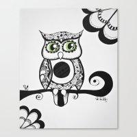 Night Birds #2 Canvas Print