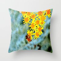 Throw Pillow featuring Buzz by Renee Trudell
