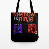Shadow Of The Ninja- Blu… Tote Bag
